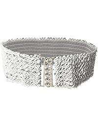 Paillette Maillon Décor Extensible Ceinture ceinture ceinture ceinture pour Lady
