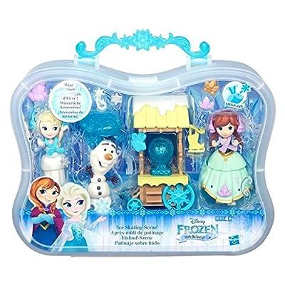 Frozen Disney Little Kingdom Escena de patinaje sobre hielo de Hasbro
