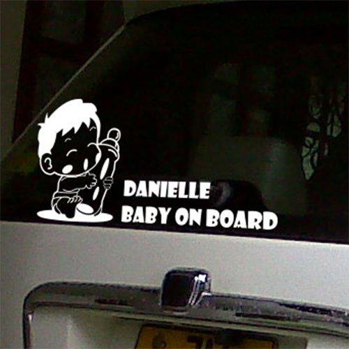 Deodorante per auto personalizzato Baby On Board-Adesivi per Halloween, Nursery Stickers-Adesivi da parete con citazione ' img2-dark grey