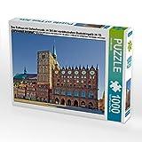 Das Rathaus mit Schaufassade, im Stil der norddeutschen Backsteingotik im 13.Jahrhundert errichtet 1000 Teile Puzzle quer (CALVENDO Orte)