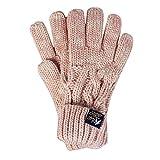 Superdry Damen Handschuhe Arizona Cable Gloves, (Sandy Pink Twist Wa8), One Size (Herstellergröße: OS)