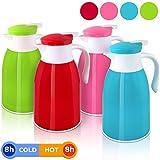 Isolierkanne Thermoskanne Kaffeekanne Teekanne 1 Liter große Farbauswahl✔ tropfsicherer Ausguss ✔100% dicht - Grün