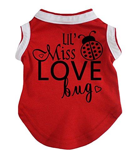 Petitebelle Hundekleid Lil' Miss Love Bug Baumwoll-T-Shirt, (Love Bug Kostüm)