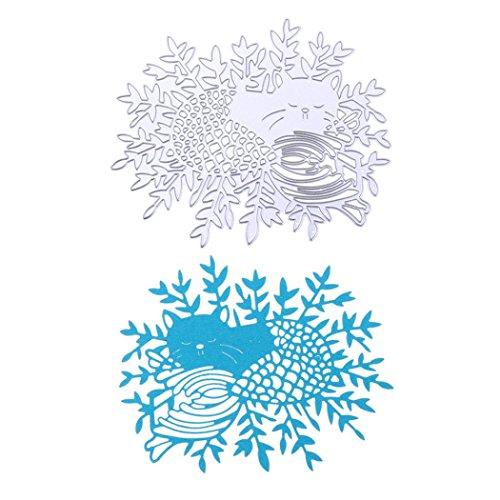 Stanzschablone Scrapbooking, FNKDOR Embossing Machine Schablonen Schneiden Stanzformen, für Sizzix Big Shot / Cuttlebug / und andere Stanzmaschine (M)