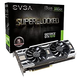 EVGA GeForce GTX 1070 FTW GAMING ACX 3.0 8GB GDDR5 RGB LED 10CM FAN 10 Power Phases Double BIOS DX12 OSD Support PXOC Graphics Card 08G-P4-6276-KR
