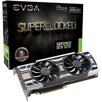 EVGA 08G-P4-6173-KR - Tarjeta gráfica (GeForce GTX 1070, 8 GB, GDDR5, 256 bit, 7680 x 4320 Pixeles, PCI Express 3.0)