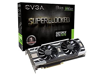 Nvidia GeForce GTX 1070 SC GAMING ACX 3.0 Black Edition Ekran Kartı, 8GB GDDR5, LED, DX12 OSD Desteği (PXOC) 08G-P4-6173-KR