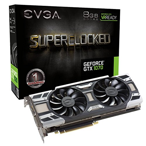 EVGA GeForce GTX 1070 SC GAMING 8GB - graphics cards (NVIDIA, GeForce GTX 1070, 7680 x 4320 pixels, 1594 MHz, 1784 MHz, 8 GB)