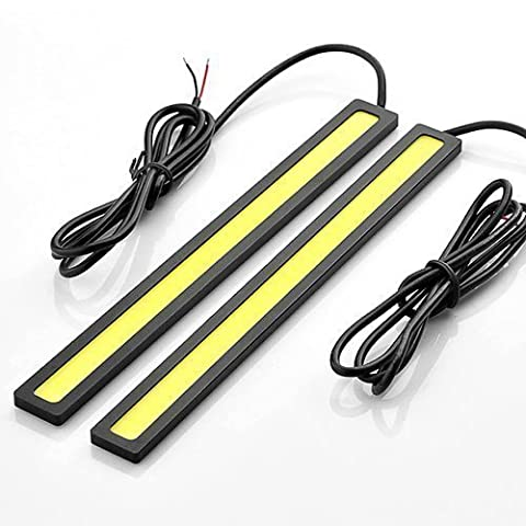 COOLPOW 2 Pcs Set Waterproof Aluminum High Power 6W 6000K Xenon White Slim Cob Led Drl Daylight Driving Daytime Running Light Lamp For Car Suv Sedan Coupe Vehicle