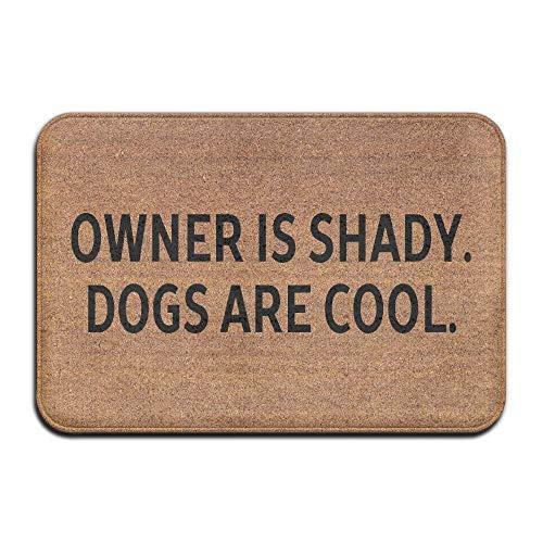 Goodsale2019 il proprietario È shady. i cani sono freschi. tappetino antiscivolo super assorbente, moquette in corallo, tappetino per tappeti, moquette, moquette, tappetino per porta, 40x60 cm