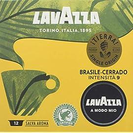 Lavazza A Modo Mio ¡Tierra! Brasile-Cerrado Single Origin Coffee Capsules, 12-Count, Pack of 10 (120 capsules)