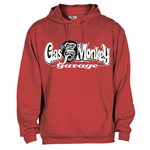 Gas Monkey Garage Hoody OG Logo, Farbe:red;Größe:S