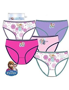 Pack de 5 braguitas diseño Elsa y Anna FROZEN (Disney) 5 diseños diferentes tallas 2/3, 4/5 y 6/8 años (100% algodon)