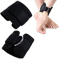Asentechuk® 2pcs Noir Anneau en D pour sangle de cheville Multi Gym câble Attachment cuisse de jambe Poulie levage de poids