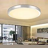 ETiME LED Deckenleuchte 18W Deckenlampe Rund Modern Wohnzimmer Lampe Schlafzimmer Warmweiß (35cm 18W Warmweiß)