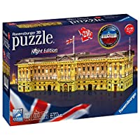Ravensburger UK 12529 Ravensburger Buckingham Palace-Night Edition, 216pc 3D Jigsaw Puzzle,