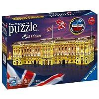Ravensburger UK 12529 Ravensburger Buckingham Palace-Night Edition, 216pc 3D Jigsaw Puzzle,