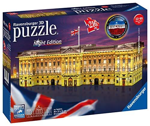 Ravensburger 12529 Buckingham Palace Bei Nacht 12529-Buckingham Nacht-3D Puzzle