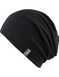 Florence - Trendige leichte dünnere Sommer Mütze für Damen und Herren - Slouch (black / green)