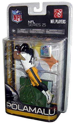 McFarlane Toys NFL Sports Picks Series 25 Action Figure Troy Polamalu (Pittsburgh Steelers) Black Jersey Variant (Polamalu Jersey Troy)