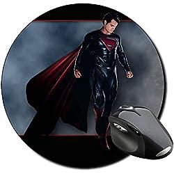 El Hombre De Acero Man Of Steel Superman K Alfombrilla Redonda Round Mousepad PC