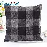 40x40 Pillow Case - Fashion Lattice Plaid Cushion Cover Home Decor 45x45 Pillow