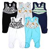 TupTam Baby Strampler mit Print Strampelanzug 5er Pack, Farbe: Junge 2, Größe: 74