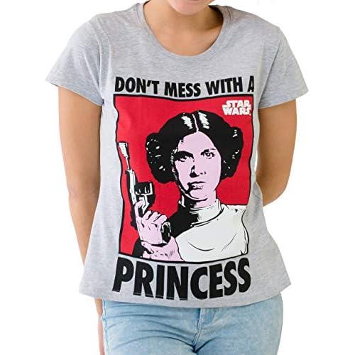 Star Wars - Camiseta para mujer de la Princesa Leia 9