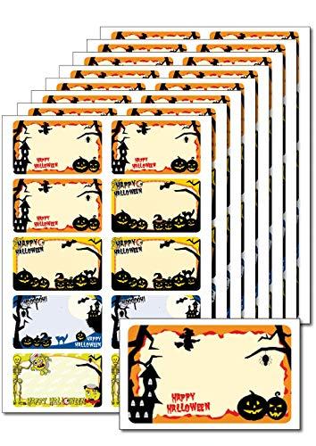 80 Etiketten 'Happy Halloween' zum Bedrucken, Beschriften, DIN A5, selbstklebend, leicht ablösbar