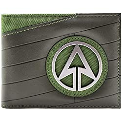 Cartera de DC Comics Arrow Emblema de superhéroes Negro