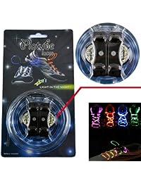 Topcabin - Cordones led con modo de luces fijas y parpadeantes, 5 colores, Dazzle colour