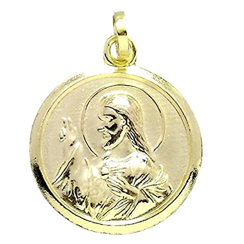 Médaille d'or Rempli 14k / 20 20mm Sacré-Coeur de Jésus.