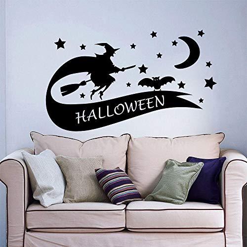 Hexenbesen Kreativer Wandaufkleber Halloween (Sie Für Hexenbesen Machen Ein Halloween)