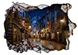 Chicbanners Harry Potter Diagon Alley 3d-v203 Smash Wandtattoo Selbstklebende Poster Wall Art Größe 1000 mm breit x 600 mm tief (groß)
