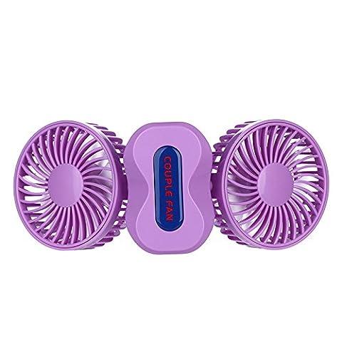 Un Ventilateur Portable Ventilateur Réglable À 180 Degrés Couple 13 5*6 6*Violet 9 5 Cm