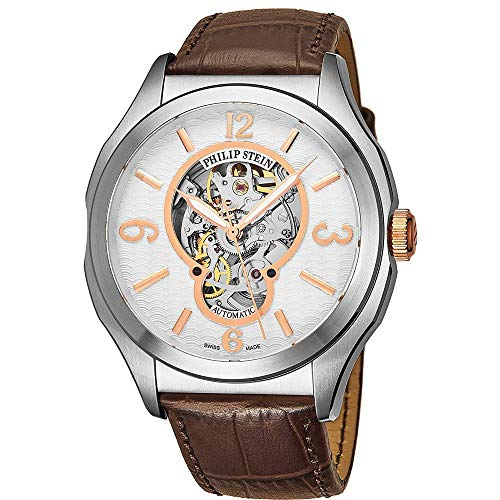 Philip Stein Men's 47mm Alligator Leather Band Automatic Watch 17ASKFWCSTACH