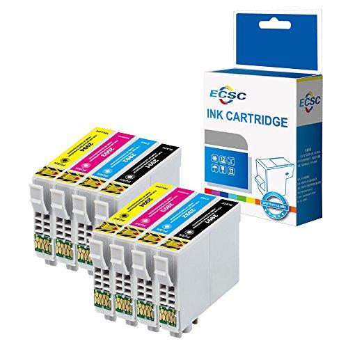 ECSC Compatible Tinta Cartucho Reemplazo Para Epson XP-235 XP-335 XP-432 XP-442 XP-342 XP-245 XP-435 XP-332 XP-247 XP-445 XP-345 T2996 (Negro/Cian/Magenta/Amarillo, 8-Pack)
