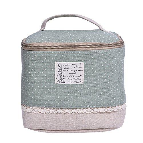Contever® Multifunzione Sacchetto Hand Cosmetic Borsa da Toilette Borsetta da Viaggio Cosmetico Wash Bag per le Donne la Girl - Verde