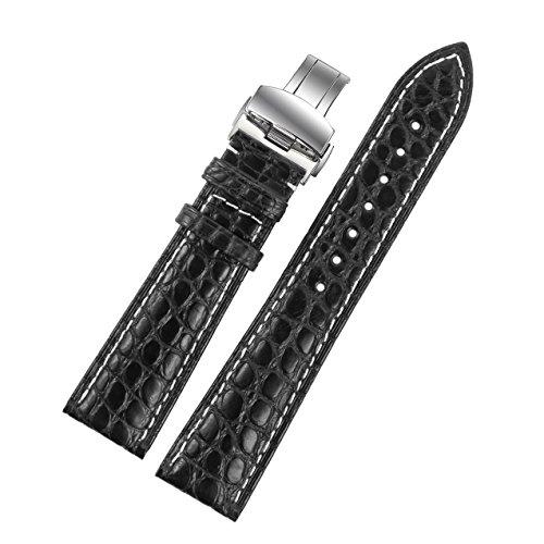 22mm-schwarz-luxus-alligatorleder-ersatz-uhrenarmbander-bands-handgefertigt-mit-weissen-nahten-fur-s