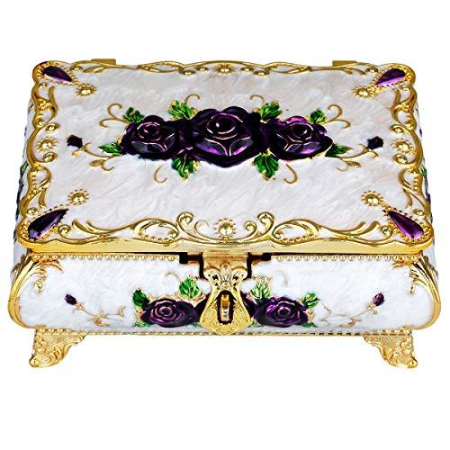 mookaitedecor Schmuckschatullen Damen Dekorative, Vintage Trinket Box zur Aufbewahrung Halsketten Ohrringe Armbänder Accessoires für Frauen Mädchen