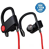 #10: Captcha QC10 Bluetooth Headset Runner Headset Sport Stereo Sweatproof Earphones with Mic and Earhook For All Android & Iphone Smartphones (Assorted Colour)