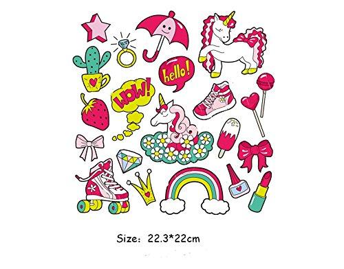 Pegatinas transfer parches termoadhesivo friki unicornios novedad verano 2018 para camisetas, cazadoras, jerseys, sudaderas, bodys, camisetas, chandal, zapatillas, mochilas.de CHIPYHOME