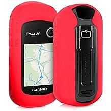 kwmobile Funda para Garmin eTrex 10/20/30/201x/209x/309x - estuche protector de navegador GPS para ciclismo - cubierta case cover para Navi de bicicleta rojo