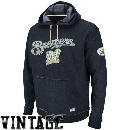 MLB Baseball Hoody/Hoodie/Kaputzenpullover Sweater MILWAUKEE BREWERS Home Stretch in X-LARGE (XL) (Stretch Majestic Pullover)