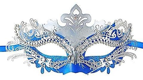 Costumes Masquerade Princesse - Masquerade Mask Shiny Metal Rhinestone Venetian Pretty