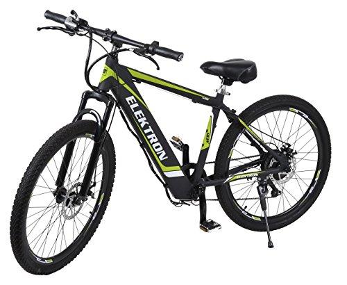 elektron bm368 - electric hybrid bicycle 17 inches (black matte) Elektron BM368 – Electric Hybrid Bicycle 17 Inches (Black Matte) 51Gxtq64rrL