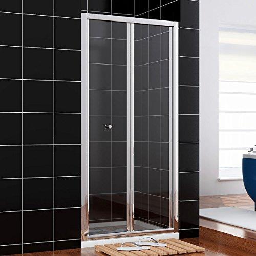 Neueröffnung 90cm Nische Falttür Pendeltür Dusche Duschabtrennung Echtglas links/rechts