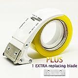 ProSun Handheld 48mm/50mm (5,1cm) Klebebandabroller, mit extra Klinge Verpackung Karton fadensiegelung Cutter Weiß