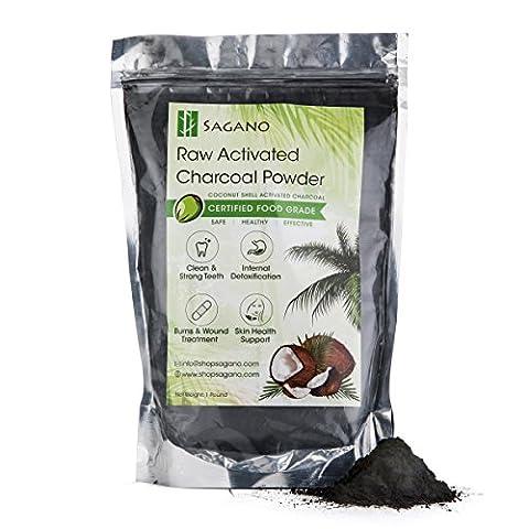 Aktivkohle Pulver - Aktivkohle für Peel Off Maske und Mitesser Gesichtsmaske - effektiver als Aktivkohle aus Hartholz - Natürliche Zahnaufhellung - Hilft bei der Verdauung und Entgiftung - 454