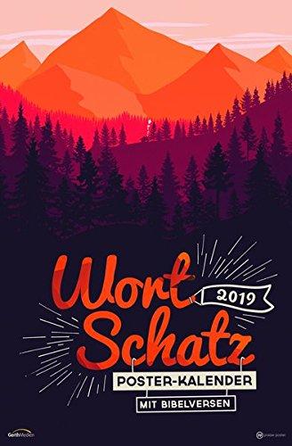 WortSchatz 2019: Poster-Kalender mit Bibelversen